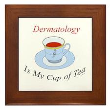 Dermatology is my cup of tea Framed Tile