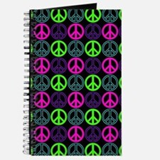 Peace Signs Multi Neon Pattern Journal