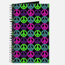 Peace Signs Multi Neon Pattern Journal