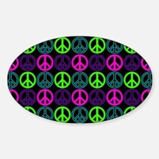 Peace Signs Multi Neon Pattern Decal