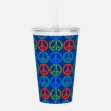 Peace Signs Multi Blue Acrylic Double-wall Tumbler