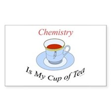 Chemistry is my cup of tea Rectangle Decal