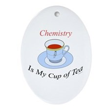 Chemistry is my cup of tea Oval Ornament