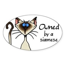 Cute Siamese cats Decal