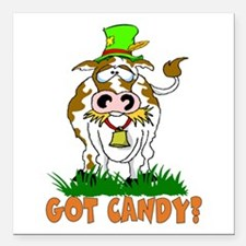 """Candy Cow Square Car Magnet 3"""" x 3"""""""