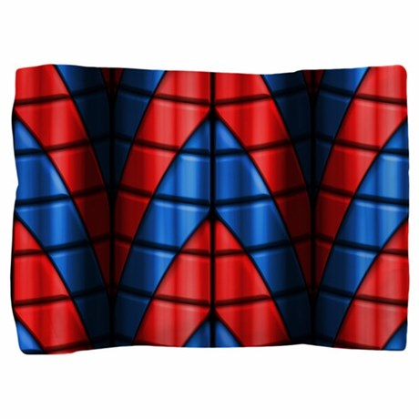 Superheroes red and blue pillow sham by phantasmdesigns for Red and blue pillows