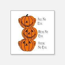See, Hear, Speak No Evil Pumpkins Sticker