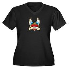 Dad Women's Plus Size V-Neck Dark T-Shirt