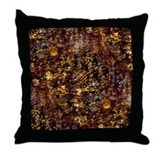 Abstract Glam Jungle Throw Pillow