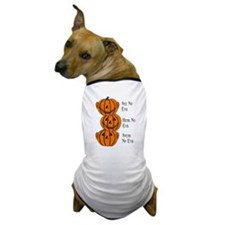 See, Hear, Speak No Evil Pumpkins Dog T-Shirt