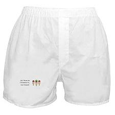 Christmas Ice Cream Boxer Shorts