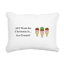 Christmas Ice Cream Rectangular Canvas Pillow