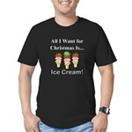Christmas Ice Cream Men's Fitted T-Shirt (dark)