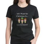 Christmas Ice Cream Women's Dark T-Shirt