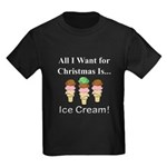 Christmas Ice Cream Kids Dark T-Shirt