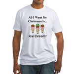 Christmas Ice Cream Fitted T-Shirt