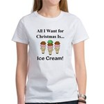 Christmas Ice Cream Women's T-Shirt