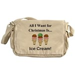 Christmas Ice Cream Messenger Bag