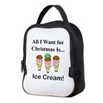 Christmas Ice Cream Neoprene Lunch Bag