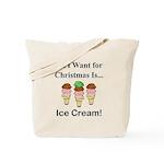 Christmas Ice Cream Tote Bag