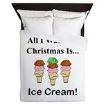 Christmas Ice Cream Queen Duvet
