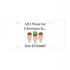 Christmas Ice Cream Aluminum License Plate
