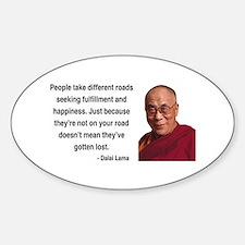 Dalai Lama 2 Oval Decal