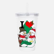 Smelling Deer Fart Acrylic Double-wall Tumbler
