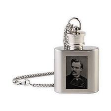friedrich nietzsche Flask Necklace