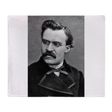 friedrich nietzsche Throw Blanket