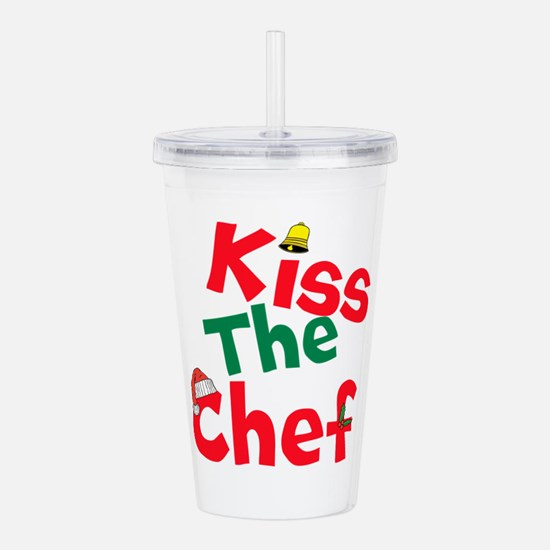 Kiss The Chef Acrylic Double-wall Tumbler