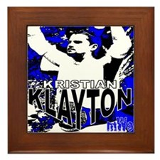 "Klayton ""Blue Pic"" Framed Tile"