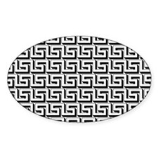 Greek Key White on Black Pattern Decal