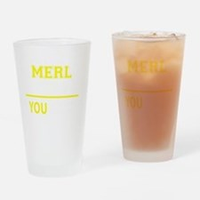 Funny Merl Drinking Glass
