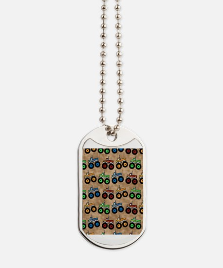Monster trucks Dog Tags