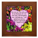 Bible verses isa 4110 Framed Tiles