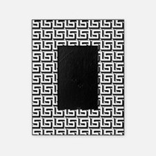 White on Black Greek Key Pattern Picture Frame