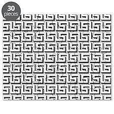 White on Black Greek Key Pattern Puzzle