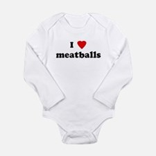 Cute Meatball Long Sleeve Infant Bodysuit
