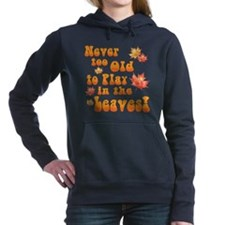 Playing in Leaves Women's Hooded Sweatshirt