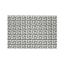 White on Black Greek Key Pattern Magnets