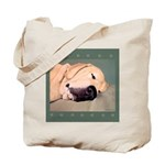 Yellow Labrador Dog Sleeps Tote Bag