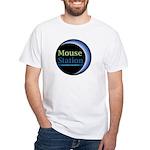 MouseStation logo White T-Shirt