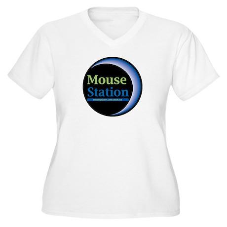 MouseStation Women's Plus Size V-Neck T-Shirt