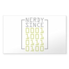 Nerdy Since 1973 Decal