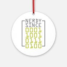 Nerdy Since 1973 Ornament (Round)