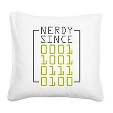 Nerdy Since 1973 Square Canvas Pillow