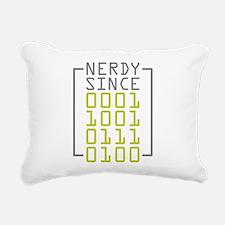 Nerdy Since 1973 Rectangular Canvas Pillow
