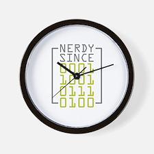 Nerdy Since 1973 Wall Clock