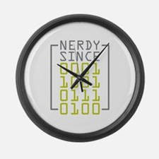 Nerdy Since 1973 Large Wall Clock